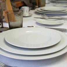 7. Fine Bone China Round Plates