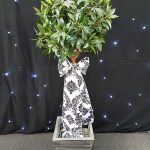 Artificial Bay Tree With Lights & Sash