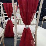 Garnet Chivari Chair Drape