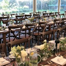 8. Dark Wood Rustic Table Event Example