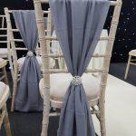 Dark Silver Chivari Chair Drape