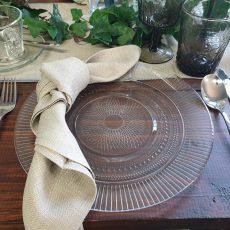 9.Glass Patterned Food Safe Plate 10inc