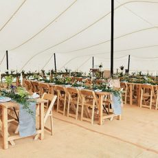 13. Light Wood Rustic Table. Seats 6 Guests