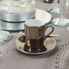 Bronze Sepia Demi-Tasse Cup & Saucer 02