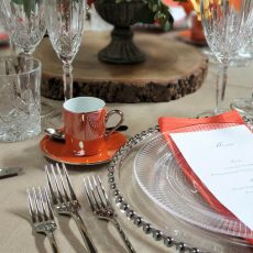 Burnt Orange Demi-Tasse Cup & Saucer 02