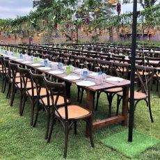 9. Dark Wood Rustic Table. Seats 6 Guests