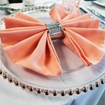 Rose Gold Beaded Glass Plate