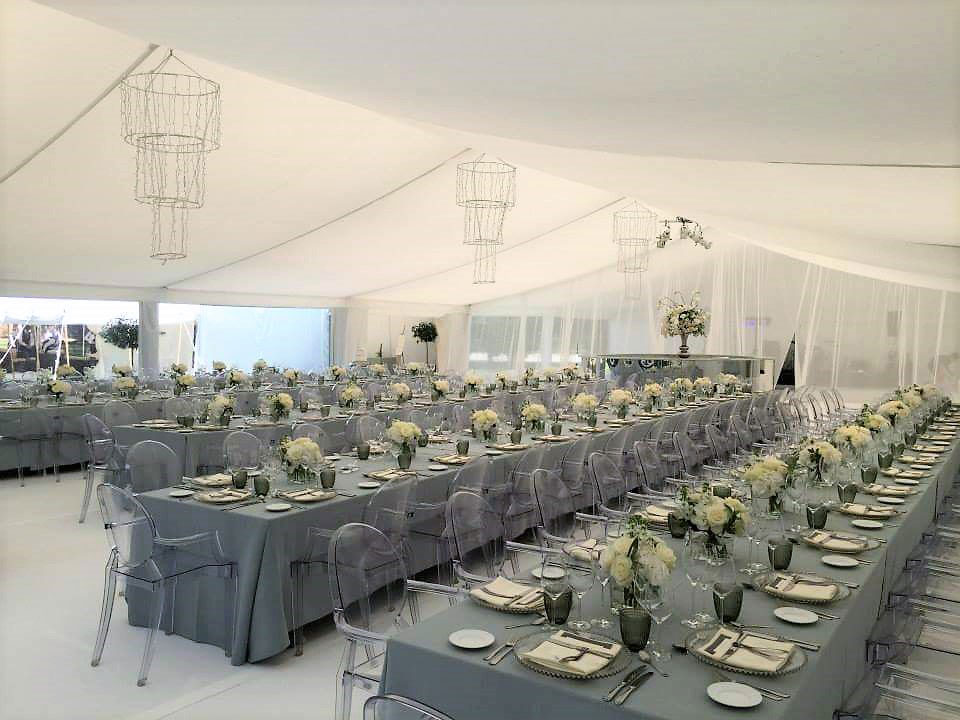 Dove linen and ghost chairs