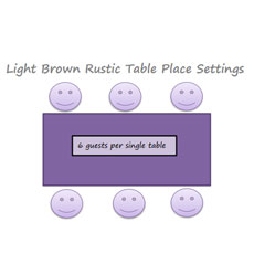 18. Light Brown Rustic Tables Place Settings