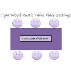 14. Light Wood Rustic Tables Joined Can Seat 3.5 Guests Each Side