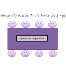 22. Naturally Rustic Tables Place Settings